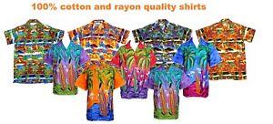 Vestido-de-fiesta-para-hombres-Camisa-Hawaiana-Palmera-de-noche-Ciervo-Hawaii-Aloha-Vacaciones-Nuevo