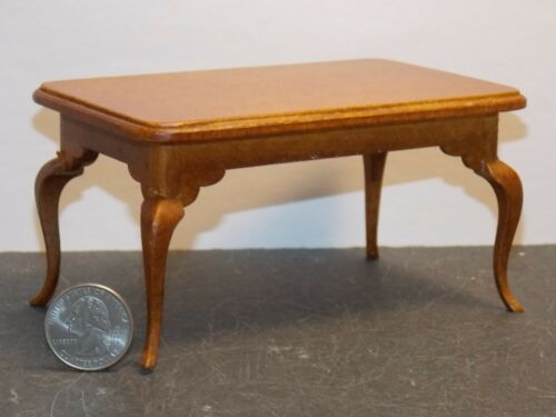 Dollhouse Miniature Dining Room Table Walnut 1:12 inch scale N43 Dollys Gallery
