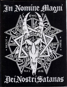 Thorncross In Nomine Magni Woven Patch. Moyen. Occult. Devil. Tarot. Witchcraft.