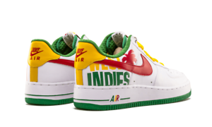 Nike air force 1 premio indie occidentali - 313641-161 verde / bianco / rosso / giallo