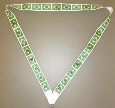 Brasil recuerdos Bandera de Brasil MI3 44cm cordón con Brasil Flag
