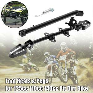 Side-Foot-Peg-Footpeg-Mount-Rest-Kick-Stand-Fits-Pit-039-Dirt-Bike-110cc125cc140c-la
