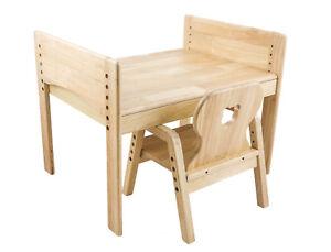 Mitwachsende KindersitzgruppeKindertischStuhl100Massivholz Mesasilla Details Zu n0P8kwO