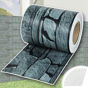 pvc sichtschutz streifen sichtschutzfolie doppelstabmatten zaun 70m schiefer ebay. Black Bedroom Furniture Sets. Home Design Ideas