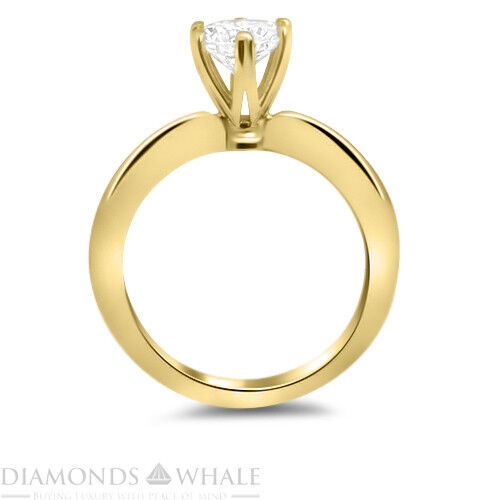 0.5 CT Yellow gold 18K Enhanced Diamond Ring SI2 E Round Cut Engagement Ring