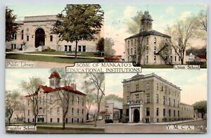 Mankato-Minnesota-Public-Library-Union-Franklin-Schools-YMCA-Building-1912