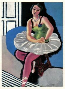 MATISSE-SIGNED-1935-LITHO-PRINT-w-COA-EXCLUSIVE-Henri-Matisse-Dancer-RARE-ART