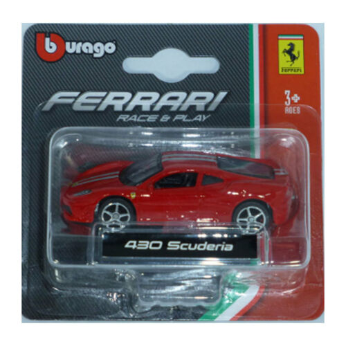 Bburago 56000 Ferrari 430 Scuderia rot Maßstab 1:64 Modellauto NEU °