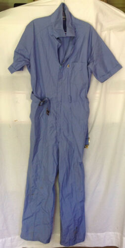 Vintage Blue Short Sleeve Jumpsuit