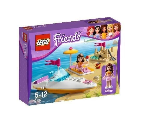 3937 OLIVIA'S SPEEDBOAT lego friends set NEW legos retired sealed box sandcastle