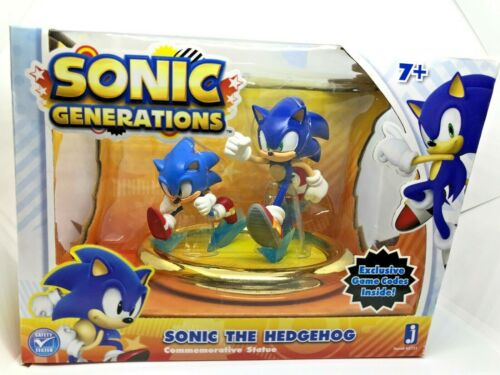 Sonic The Hedgehog Sonic Generations Statue Figure New + Exclusive Game Code