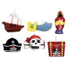 Infantil Fiesta Pirata Seis Velas Para Tarta De Cumpleaños Cofre Del Tesoro