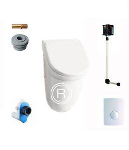 urinal mit deckel komplett set inkl urinal sp ler ebay. Black Bedroom Furniture Sets. Home Design Ideas