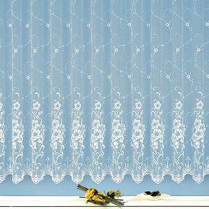 Gardine-edler-Jacquard-Store-Vorhang-reinweiss-Blumen-Florentiner-Optik-Typ261