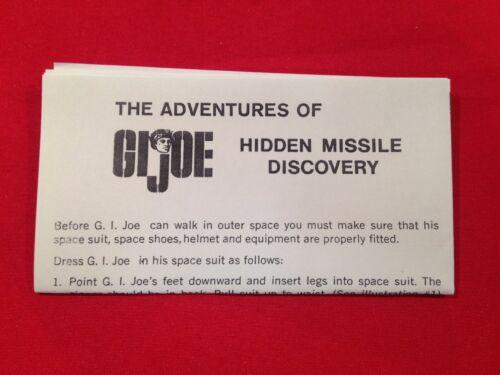 2019 ** NUOVO GI JOE MISSILE Nascosto istruzioni Discovery Joe 1964-GI ** Canada
