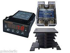 Universal 132din Pid Temperature Controller Red 25a Ssr Heatsink