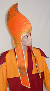 Fairtrade-Buddhist-Tibetan-Monk-Hat-Ritual-Celebration-Ceremonial-Lama-Hat-Nepal