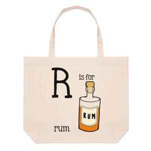 47f2c66a4 Details about Letter R Is For Rum Large Beach Tote Bag - Funny Alphabet  Shopper Shoulder