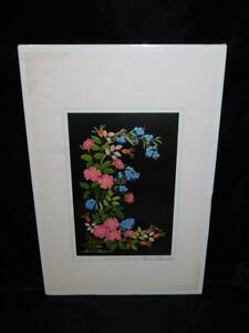 Jeanne Laurence Signed Alaska Wildflowers Art Print Wild Roses Forget Me Nots