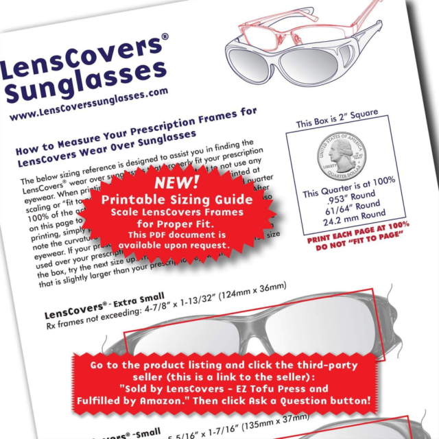 00052df9684 Lenscovers Sunglasses Wear Over Prescription Glasses Extra Small Black  Polarized for sale online