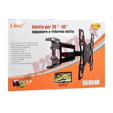 SUPPORTO PARETE ARTICOLATO 26 a 55 POLLICI TV LCD LED 3D PLASMA UNIVERSALE PORTA