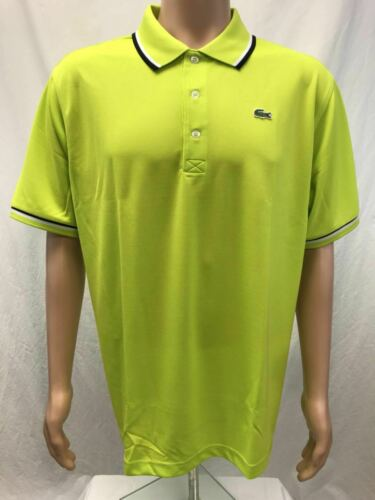 NWT Lacoste Sports Men/'s Ultra Dry Polyster Polo with ribbed collar Sizes 5-8