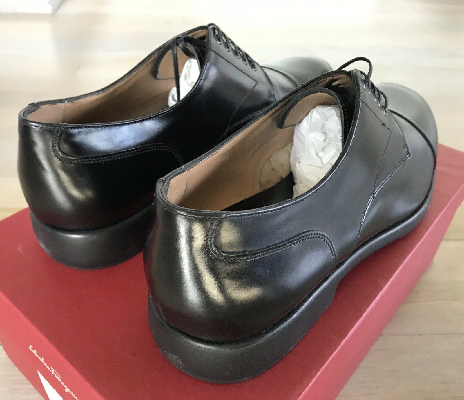 600  Salvatore Ferragamo Larry Dress Dress Dress Leather shoes Size US 9.5 Made in  2e939d