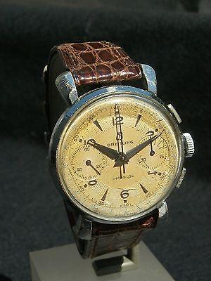 montre homme ancienne mécanique rare chrono BREITLING incabloc révisée garantie | eBay