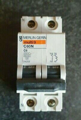 C45AD 10,15 20 60 Amp FREE POSTAGE MERLIN GERIN multi9 TYPE 2 4   3 POLE MCB