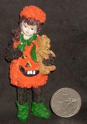 Pumpkin Costume Girl Halloween Trick Treat 1:12 Dollhouse Miniature T8250 Child