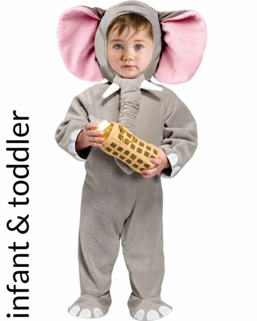 lil elephant jumpsuit costume with bottle holder size 6 12 mo fun world 111331