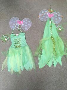 2 Fairy Costumes Taille Unique Femme Et Enfant Grand 8-10-afficher Le Titre D'origine Couleurs Fantaisie