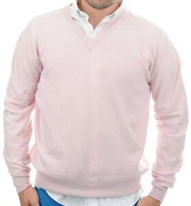 Kaschmir S Cashmere Herren Ausschnitt Pullover 100 Balldiri V Zartrosa ETqw8T