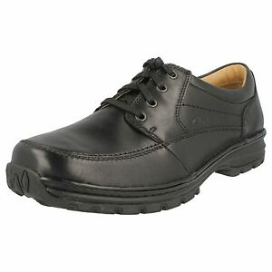 Clarks Fit de para Mile H negro cuero Wider Zapato r22f hombre Sidmouth qtFwAq7S