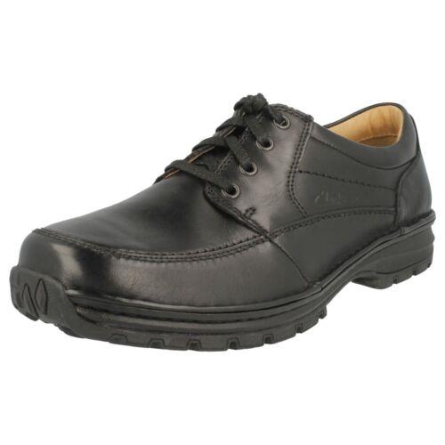 Ancho r22f Hombre Piel Sidmouth Negro Milla H Zapato Ajuste De Clarks 0CPqHw