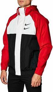 Nike-Men-039-s-Swoosh-victory-HD-Jacket-windbreaker-black-red-white-MSRP-140