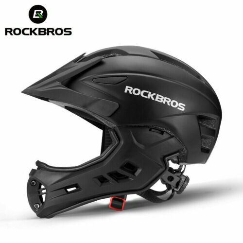 ROCKBROS Cycling Children Full-Face Helmet Ultralight Protective Helmet Black