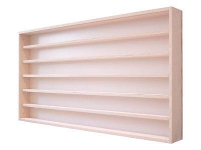 H0 Vitrine Regal aus Holz 115 cm für Züge Hängevitrine Birke