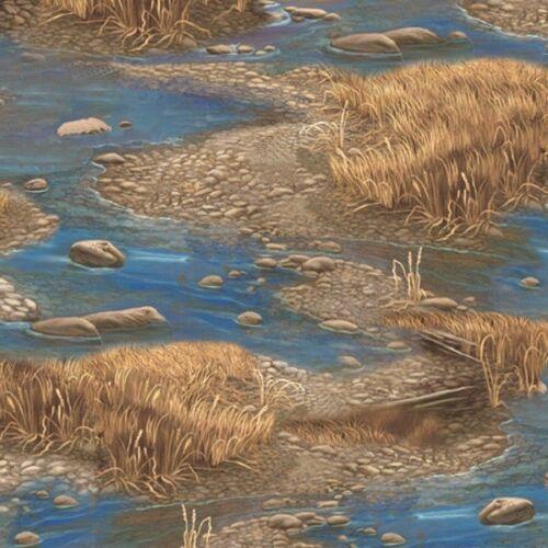 Sundance secuencias de vida Estanque Agua Hierba de la naturaleza 100/% Tela De Algodón