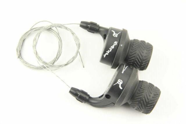 Bike Bicycle Twist Grip Gear 3 X 5 Speed Shifters 15 Speed Shifter Black