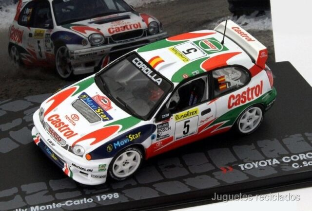 1/43 TOYOTA COROLLA WRC 1998 CARLOS SAINZ RALLY MONTECARLO IXO EAGLEMOSS DIECAST