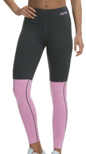 TCA Nova Womens High Waist Tights Grey Pink Soft Stylish Gym Training Yoga Tight