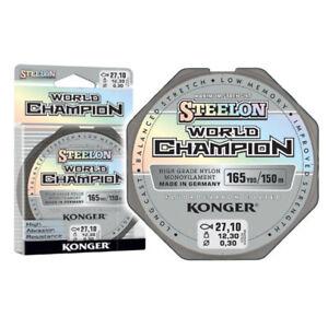 150m-ANGELSCHNUR-STEELON-WORLD-CHAMPION-FLUOROCARBON-COATED-0-10-0-30mm-MONOFILE