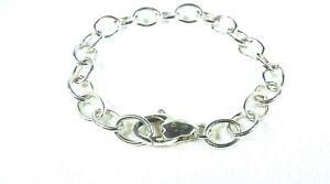 Vintage-Estate-1970-039-s-1990-039-s-925-Sterling-Silver-Chain-Bracelet