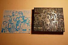 1960s Printing Letterpress Printer Block Decorative Print Cut Sports Audience