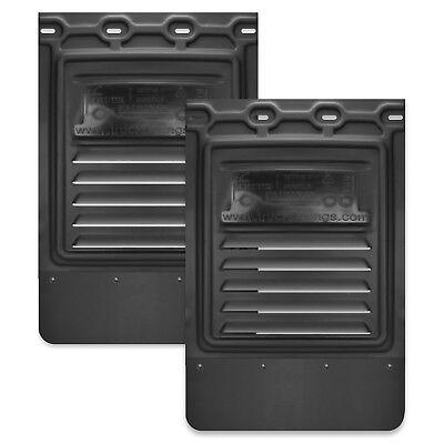 2 pcs 1 Pair Mud Flap for Semi Truck /& Semi Trailer 24 x 24 No Cut Aero HD Black