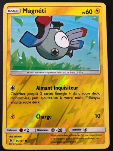 Carte Pokemon MAGNETI 34//131 REVERSE Soleil et Lune 6 SL6 FR NEUF