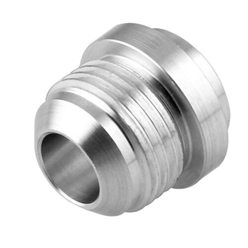 5 Pack Aluminum 10AN Weld On Bung Male Hose End Nipple Weldable 10 AN Silver