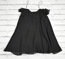 FINAL PRICE Saint Laurent SS13 Black Chiffon Flared Mini Dress NWT FR40/UK12