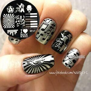 Born pretty nail art stamping plates music theme image stamp image is loading born pretty nail art stamping plates music theme prinsesfo Image collections